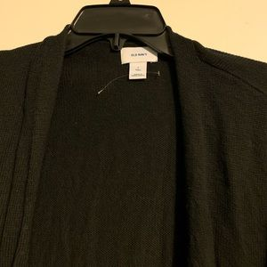 Old Navy open front cardigan size L Tall. Black